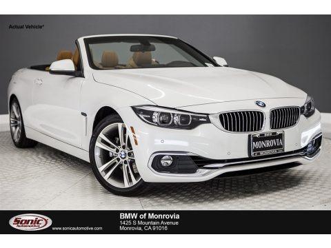 Mineral White Metallic 2018 BMW 4 Series 430i Convertible