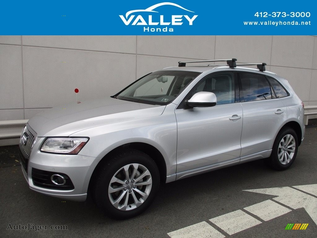 2013 Q5 2.0 TFSI quattro - Ice Silver Metallic / Black photo #1