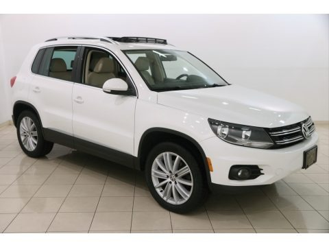 Candy White 2012 Volkswagen Tiguan SE 4Motion