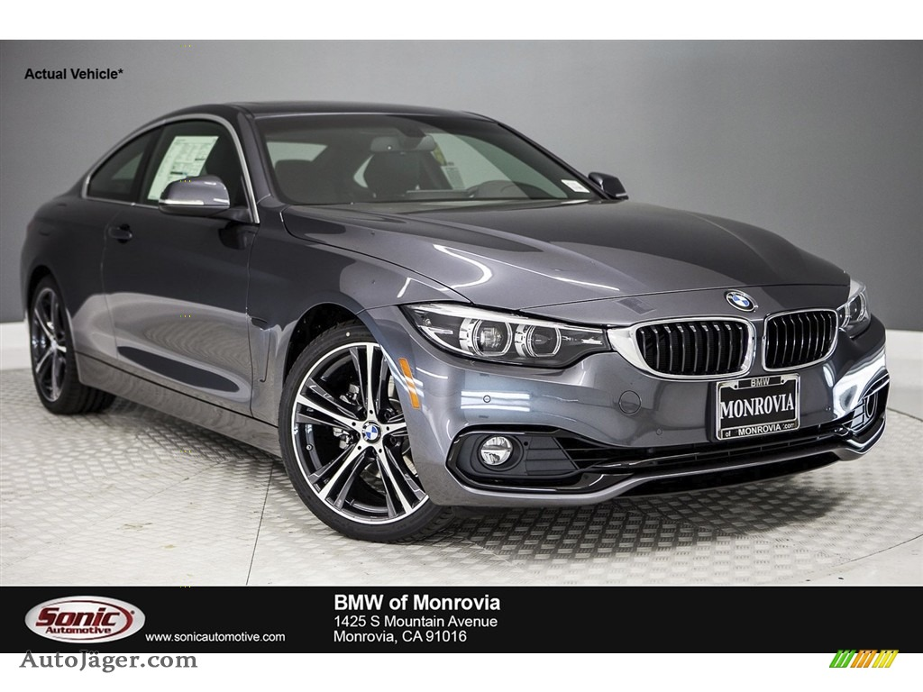 2018 4 Series 430i Coupe - Mineral Grey Metallic / Black photo #1