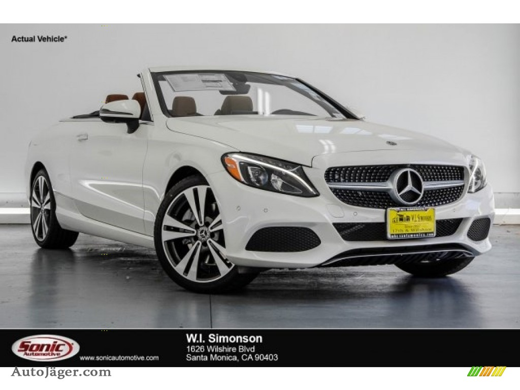 designo Diamond White Metallic / Saddle Brown/Black Mercedes-Benz C 300 Cabriolet