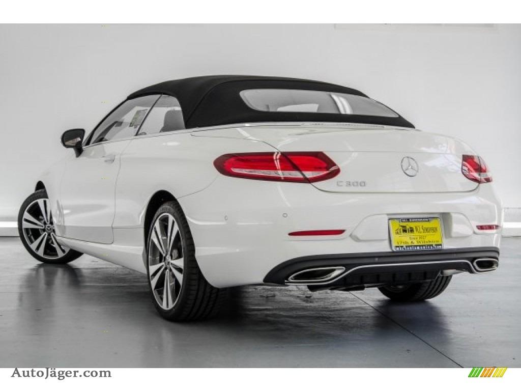 2018 C 300 Cabriolet - designo Diamond White Metallic / Saddle Brown/Black photo #3