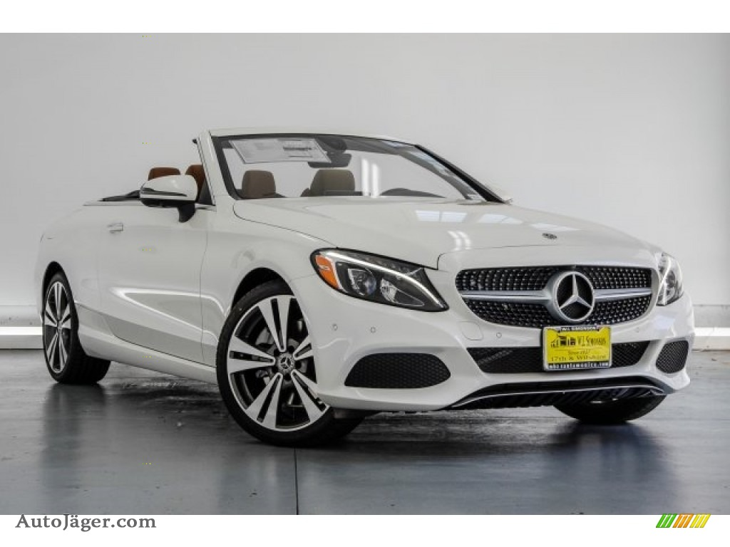 2018 C 300 Cabriolet - designo Diamond White Metallic / Saddle Brown/Black photo #12