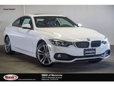 Alpine White 2018 BMW 4 Series 430i Coupe