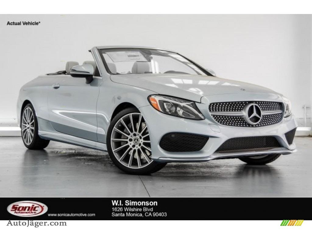 2018 C 300 Cabriolet - Diamond Silver Metallic / Crystal Grey/Black photo #1