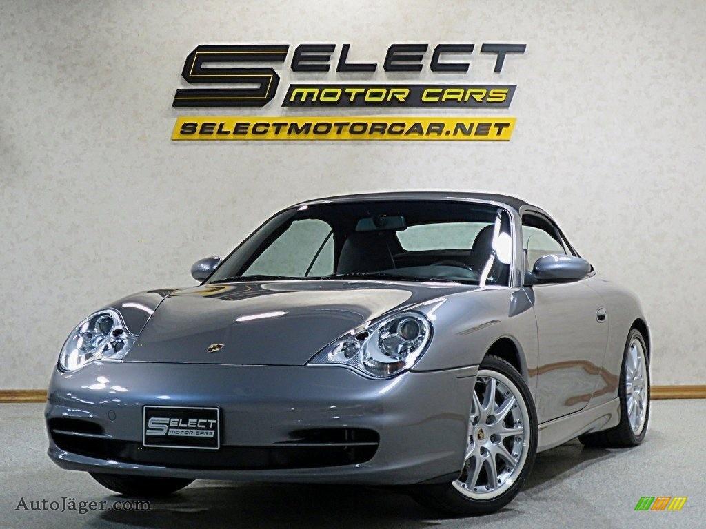 2002 911 Carrera 4 Cabriolet - Seal Grey Metallic / Black photo #1