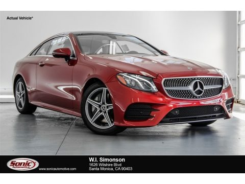designo Cardinal Red Metallic 2018 Mercedes-Benz E 400 Coupe