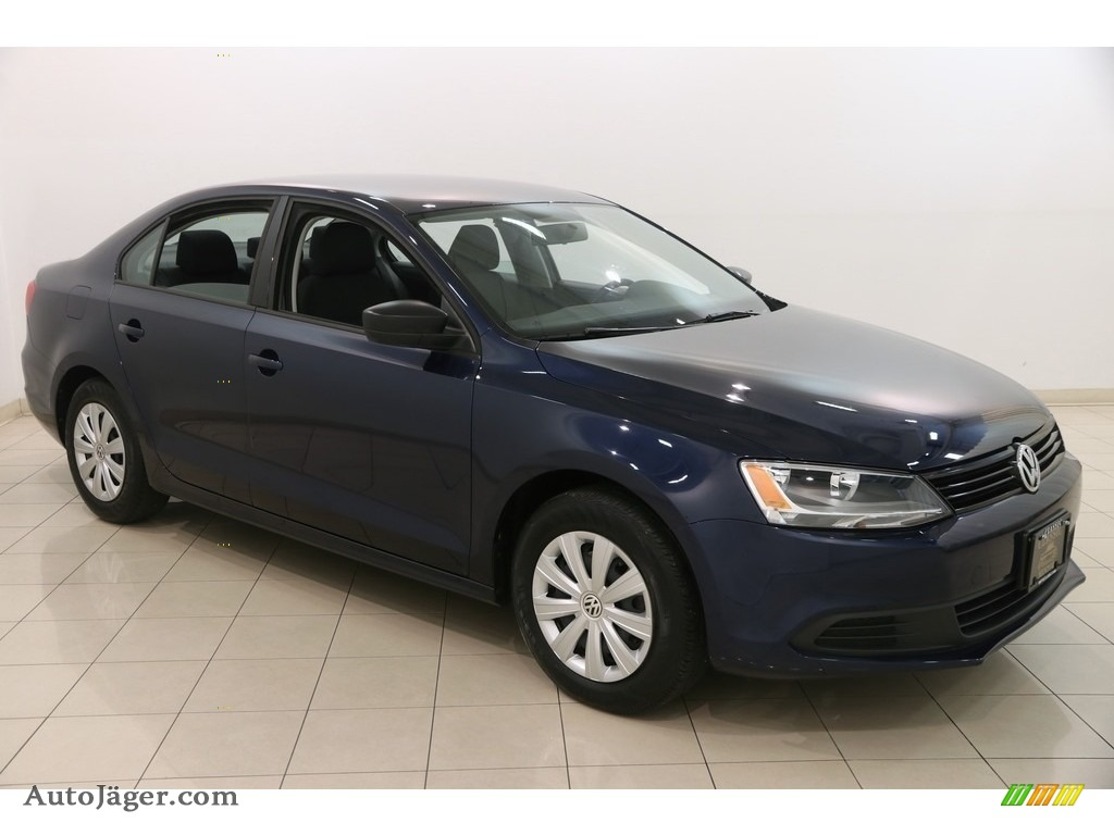 2014 Jetta S Sedan - Tempest Blue Metallic / Titan Black photo #1