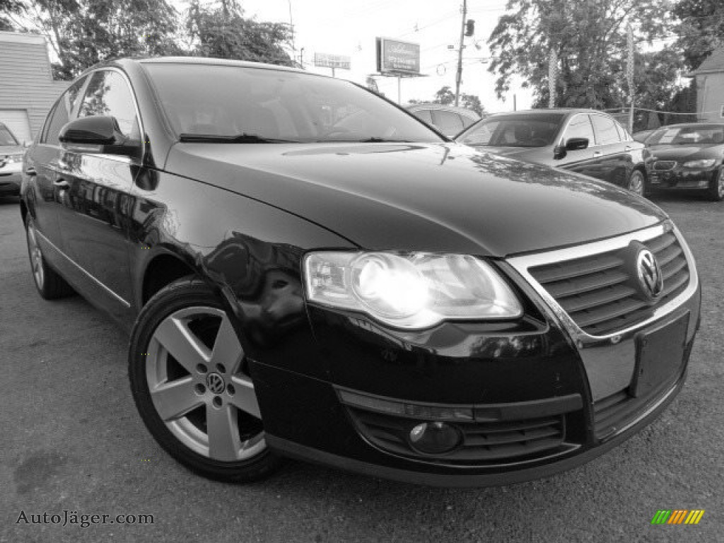 2009 Passat Komfort Sedan - Deep Black / Cornsilk Beige photo #1
