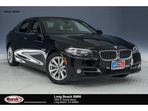 Jet Black 2015 BMW 5 Series 528i Sedan