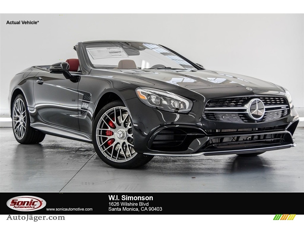 2018 SL 63 AMG Roadster - Obsidian Black Metallic / Bengal Red/Black photo #1