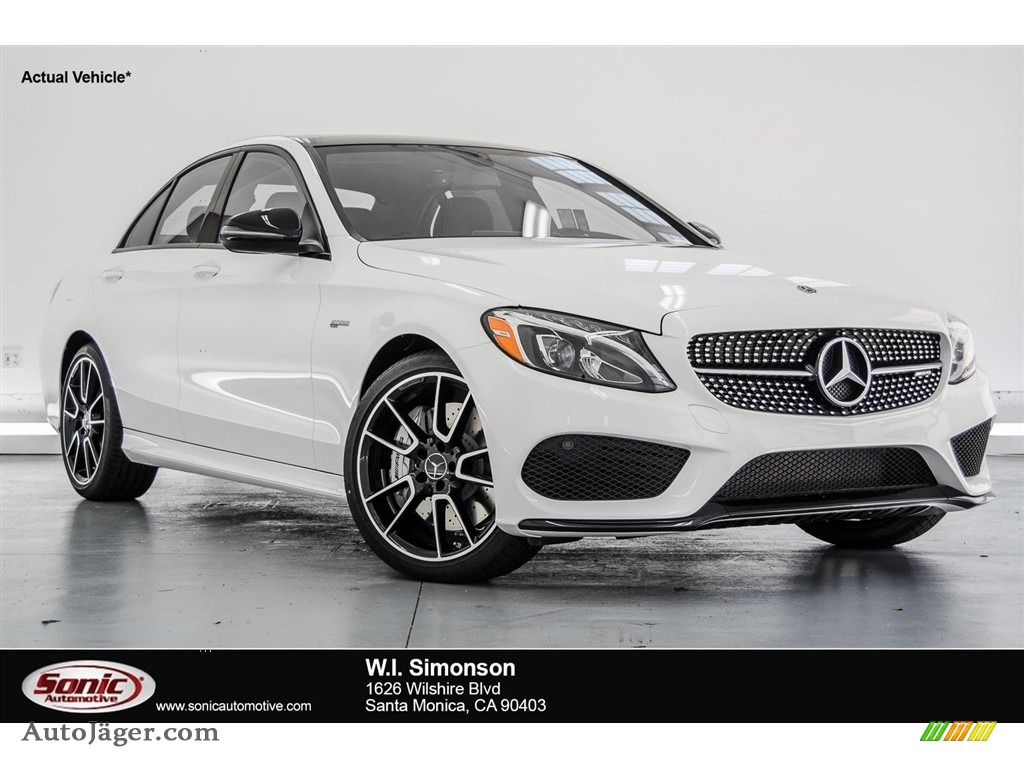 Polar White / Black Mercedes-Benz C 43 AMG 4Matic Sedan
