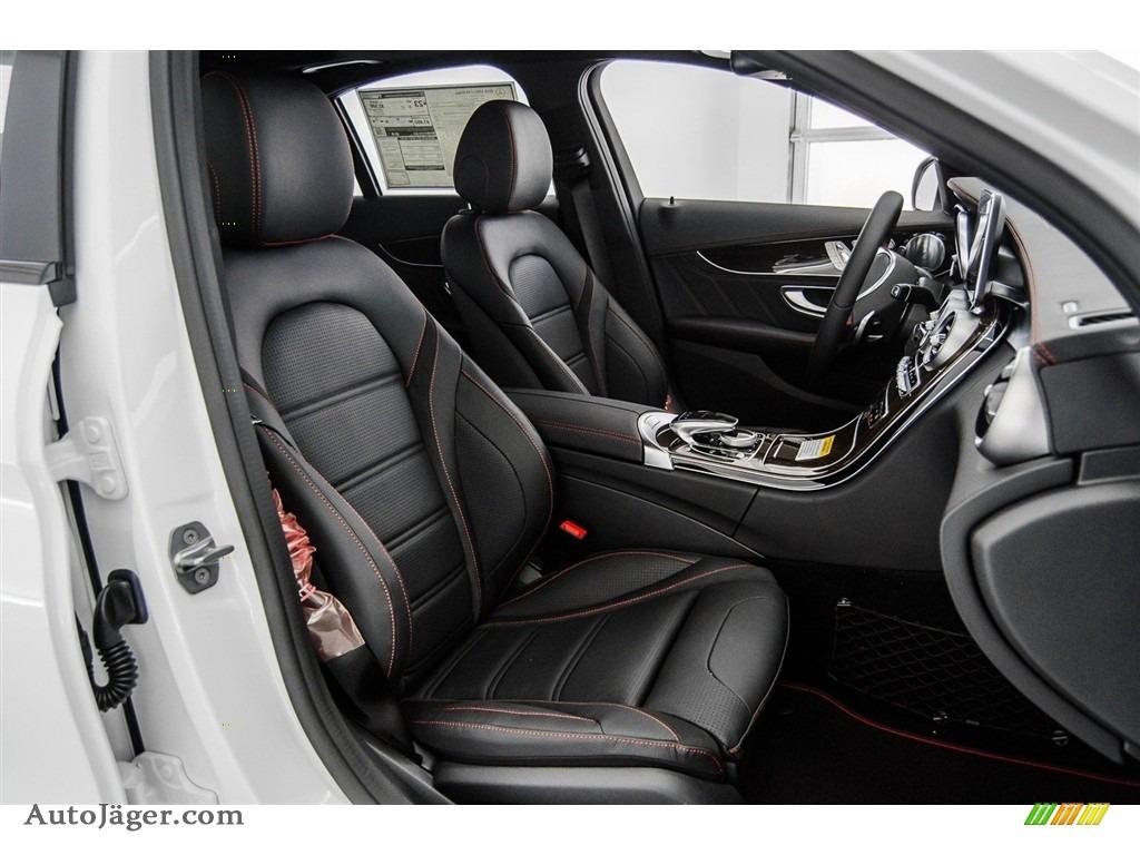 2018 C 43 AMG 4Matic Sedan - Polar White / Black photo #2