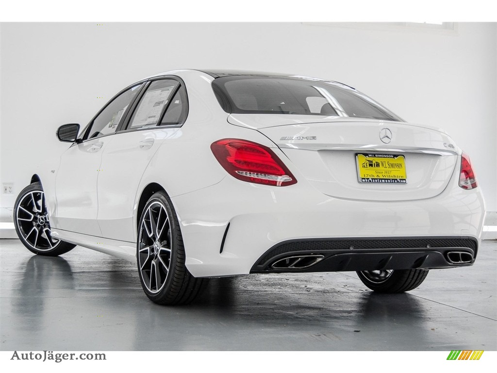2018 C 43 AMG 4Matic Sedan - Polar White / Black photo #3