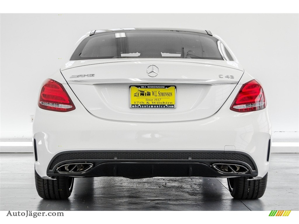 2018 C 43 AMG 4Matic Sedan - Polar White / Black photo #4