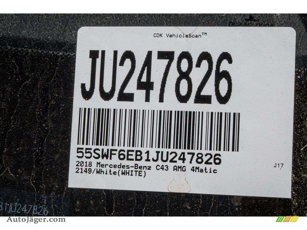 2018 C 43 AMG 4Matic Sedan - Polar White / Black photo #10