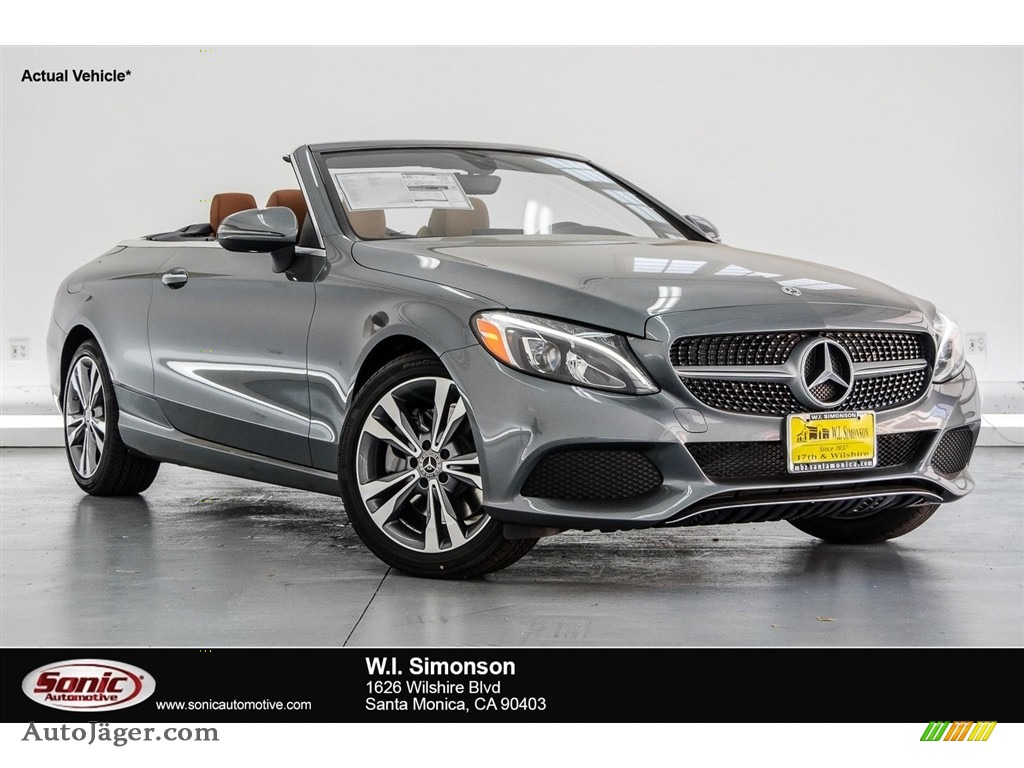 2018 C 300 Cabriolet - Selenite Grey Metallic / Saddle Brown/Black photo #1