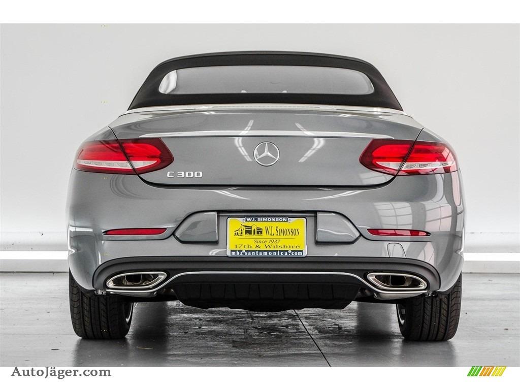 2018 C 300 Cabriolet - Selenite Grey Metallic / Saddle Brown/Black photo #4