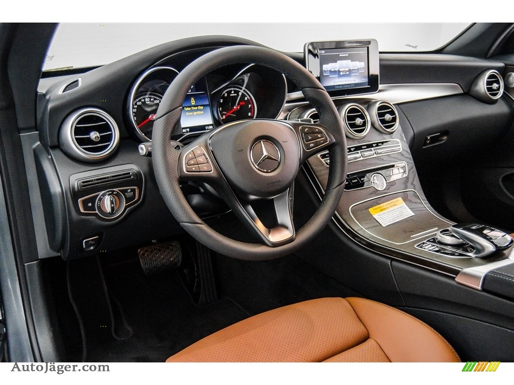 2018 C 300 Cabriolet - Selenite Grey Metallic / Saddle Brown/Black photo #6