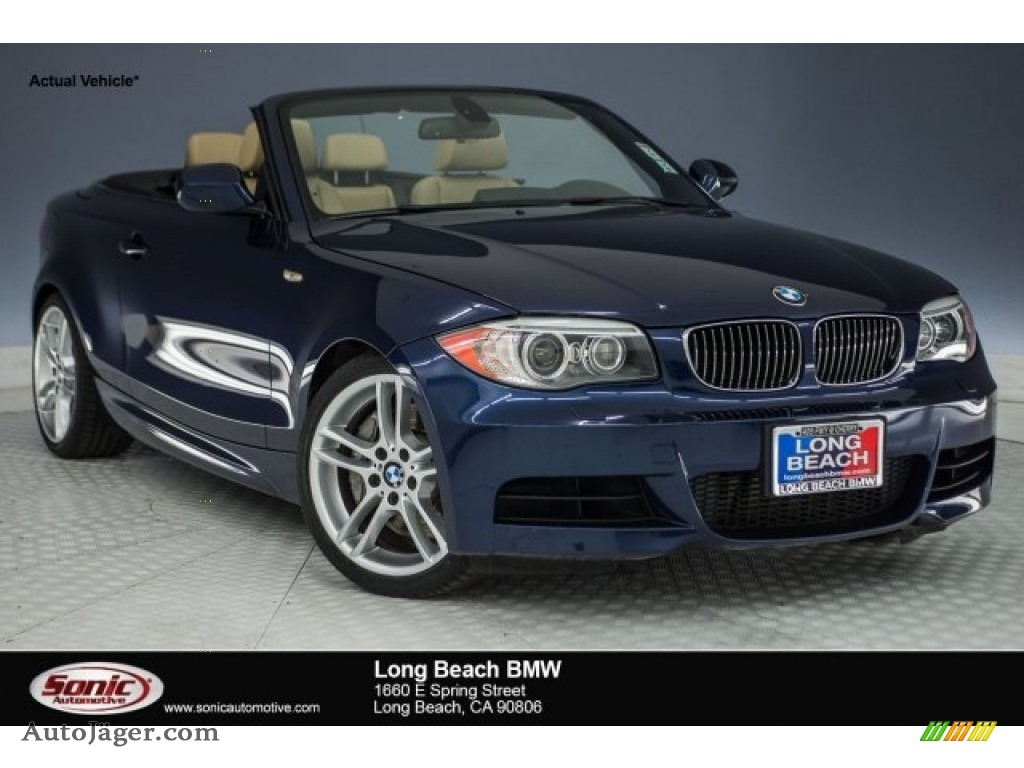 2013 1 Series 135i Convertible - Deep Sea Blue Metallic / Savanna Beige photo #1