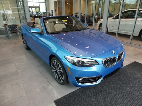 Seaside Blue Metallic 2018 BMW 2 Series 230i xDrive Convertible