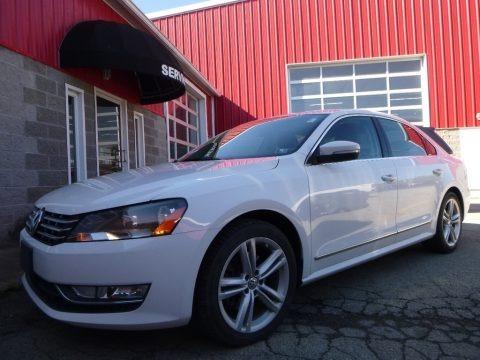 Candy White 2013 Volkswagen Passat V6 SEL