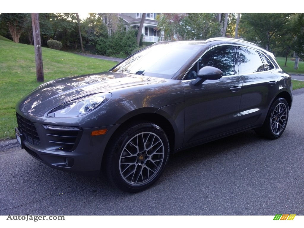 2016 Macan S - Agate Grey Metallic / Black photo #1