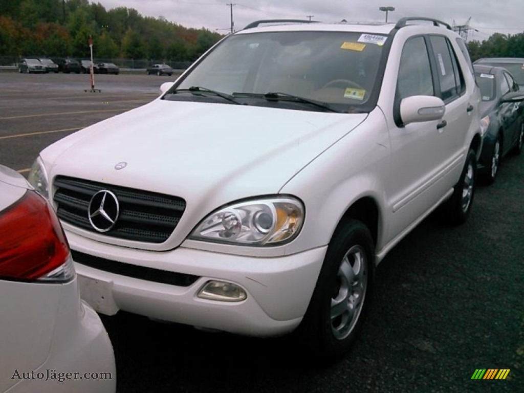 2003 ML 350 4Matic - Alabaster White / Java photo #1