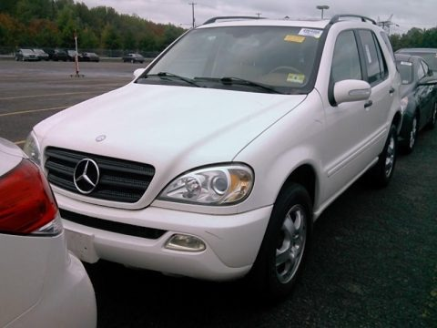 Alabaster White 2003 Mercedes-Benz ML 350 4Matic