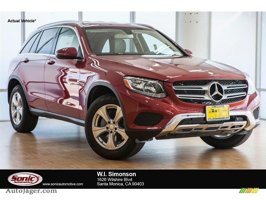 2018 GLC 300 4Matic - designo Cardinal Red Metallic / Silk Beige/Black photo #1