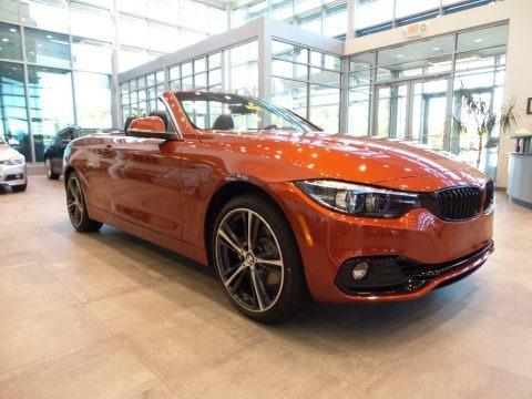 Sunset Orange Metallic 2018 BMW 4 Series 430i xDrive Convertible