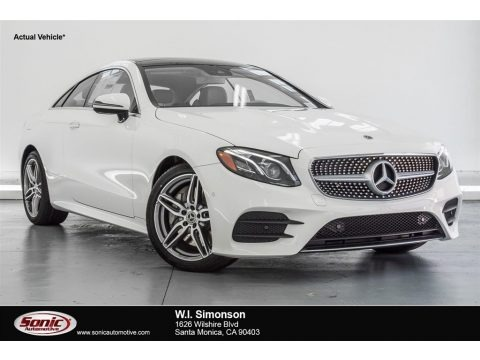 Polar White 2018 Mercedes-Benz E 400 Coupe
