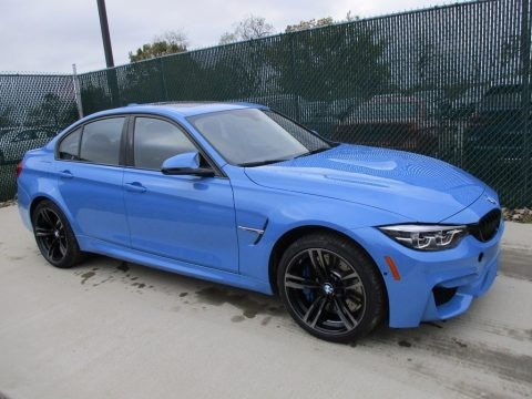Yas Marina Blue Metallic 2018 BMW M3 Sedan
