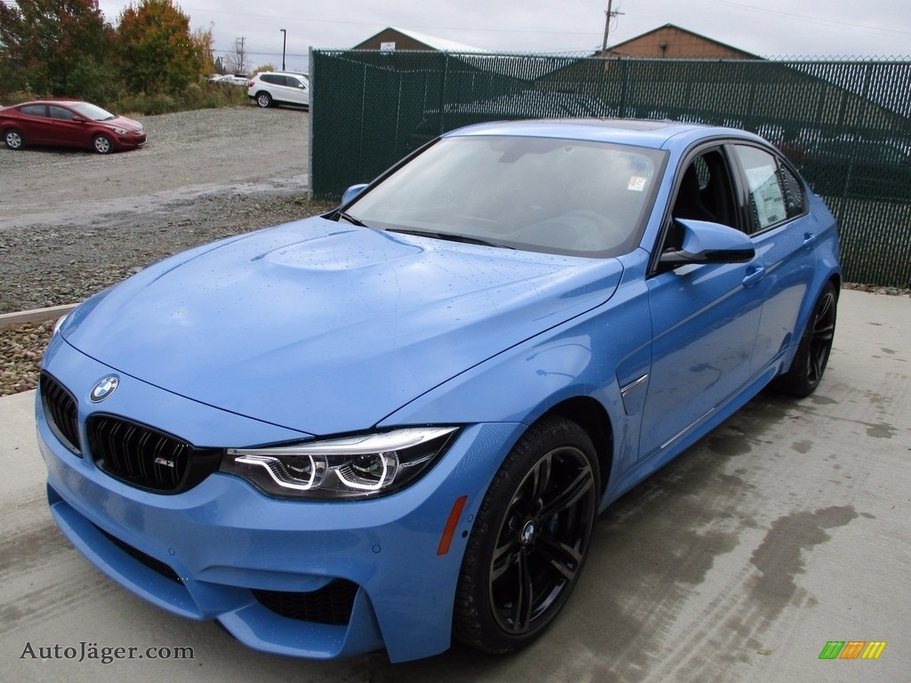 2018 M3 Sedan - Yas Marina Blue Metallic / Black photo #7