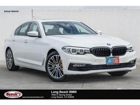 Alpine White 2018 BMW 5 Series 540i Sedan