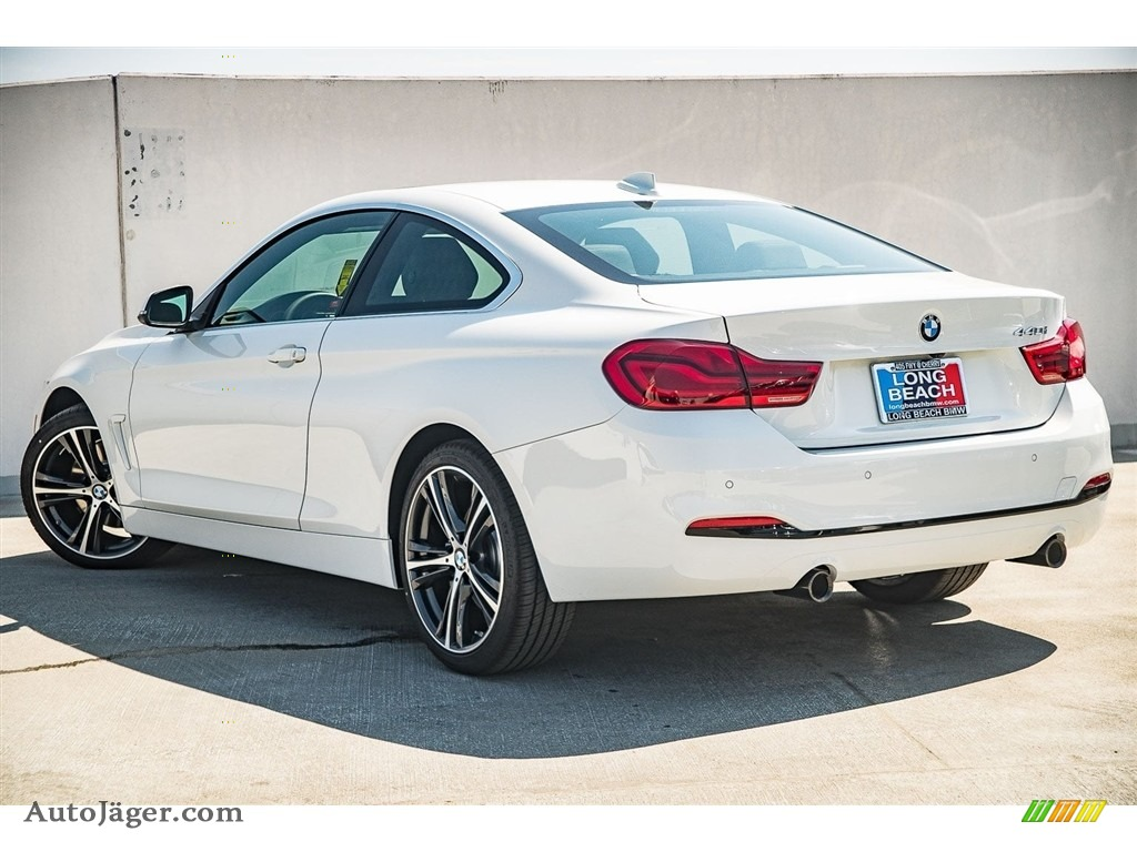 2018 4 Series 440i Coupe - Alpine White / Black photo #3
