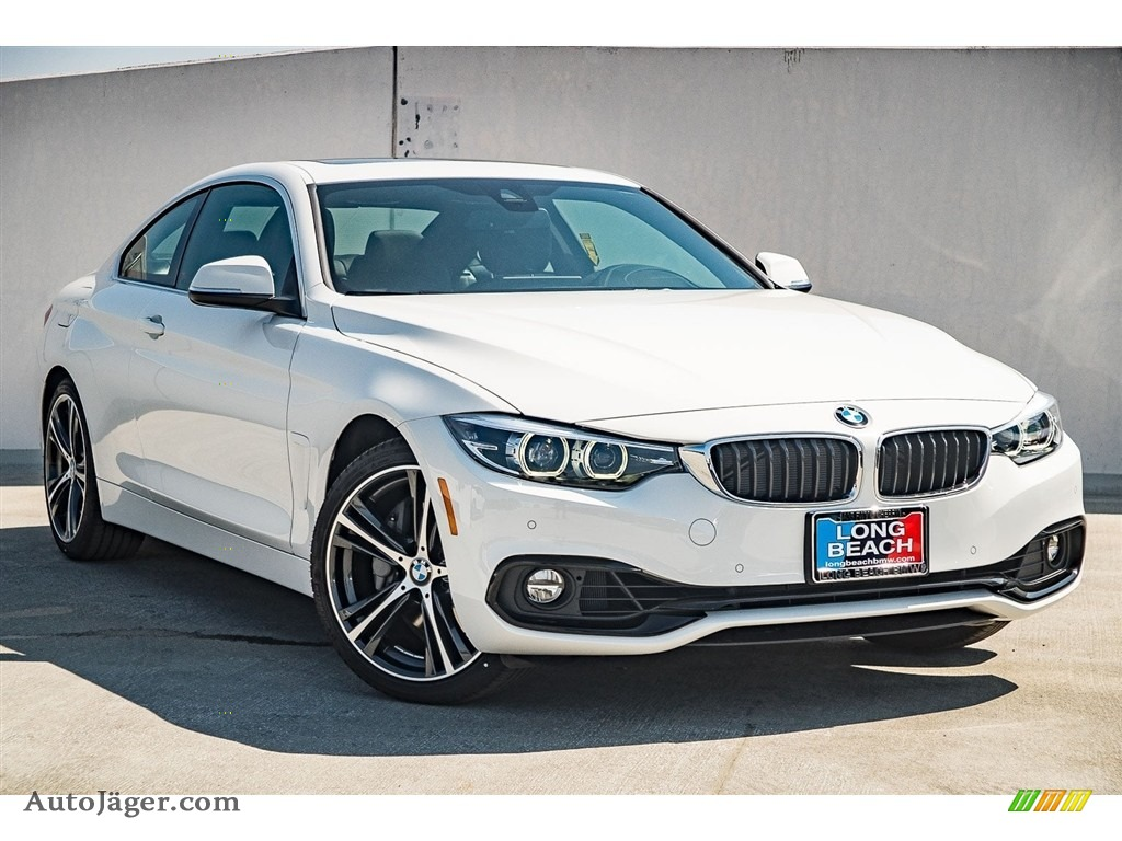 2018 4 Series 440i Coupe - Alpine White / Black photo #11