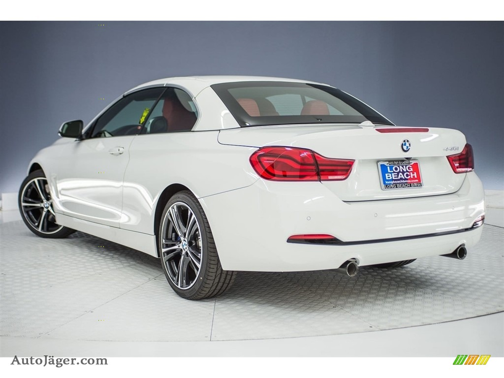 2018 4 Series 440i Convertible - Alpine White / Coral Red photo #3
