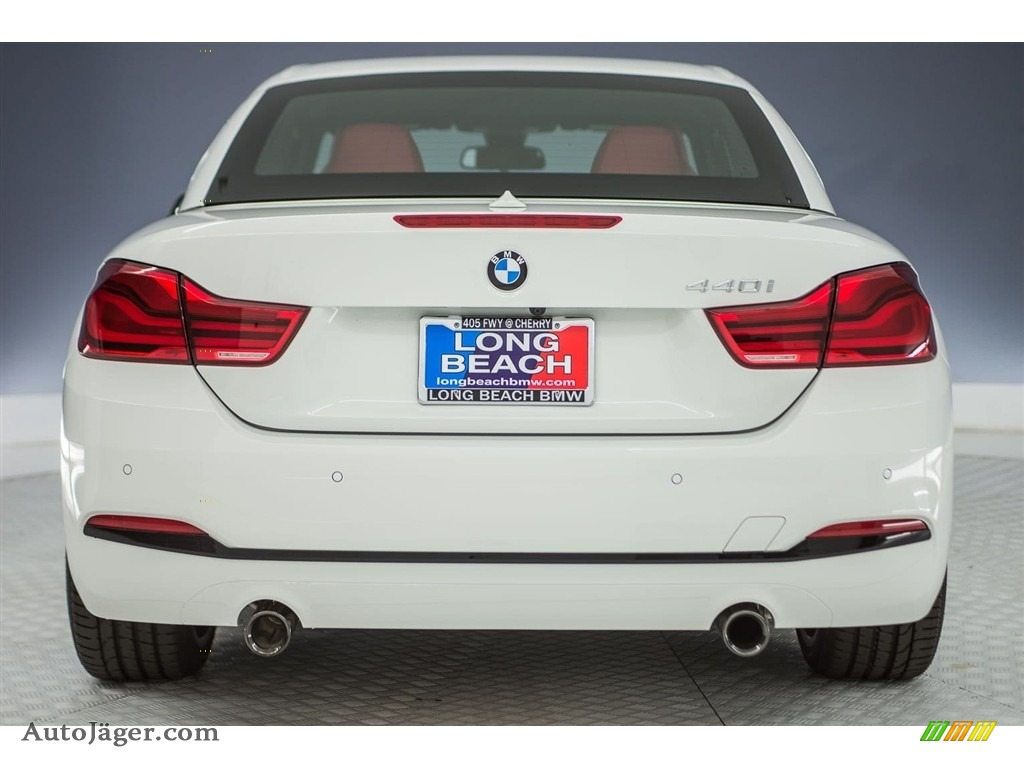 2018 4 Series 440i Convertible - Alpine White / Coral Red photo #4