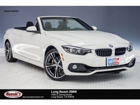 Alpine White 2018 BMW 4 Series 430i Convertible