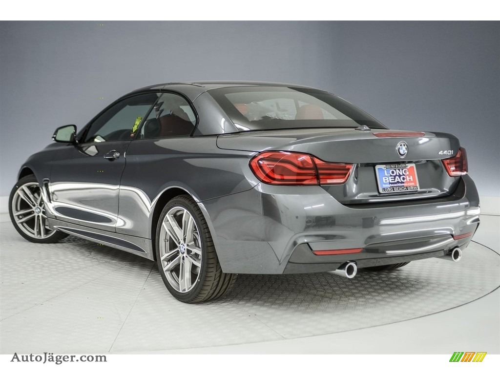 2018 4 Series 440i Convertible - Mineral Grey Metallic / Coral Red photo #4