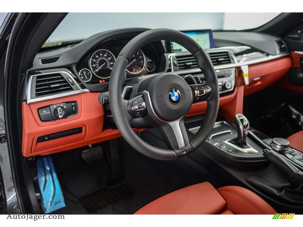 2018 4 Series 440i Convertible - Mineral Grey Metallic / Coral Red photo #6