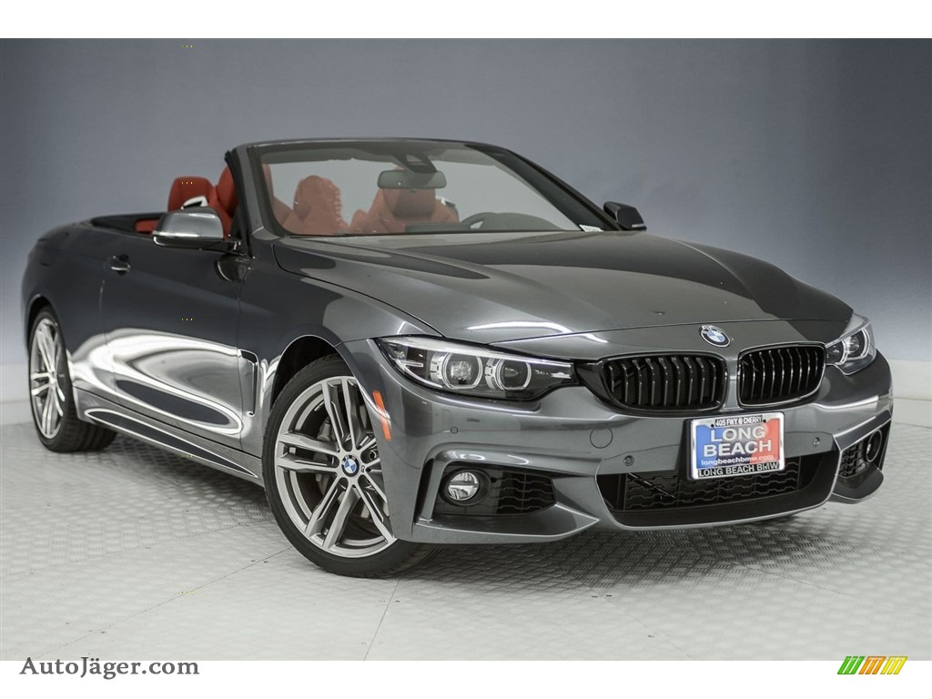 2018 4 Series 440i Convertible - Mineral Grey Metallic / Coral Red photo #11