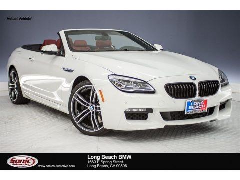 Alpine White 2018 BMW 6 Series 640i Convertible