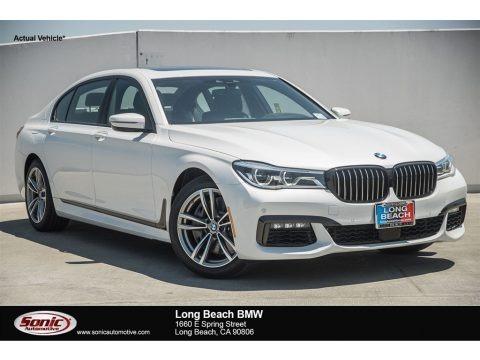 Mineral White Metallic 2018 BMW 7 Series 750i Sedan