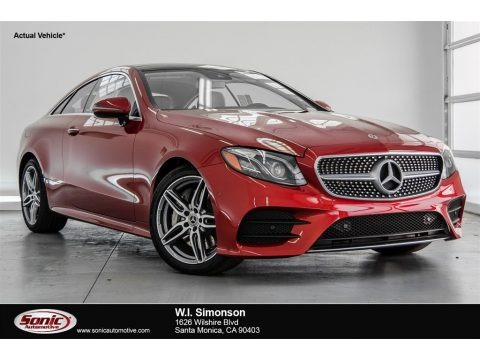 designo Cardinal Red Metallic 2018 Mercedes-Benz E 400 Coupe