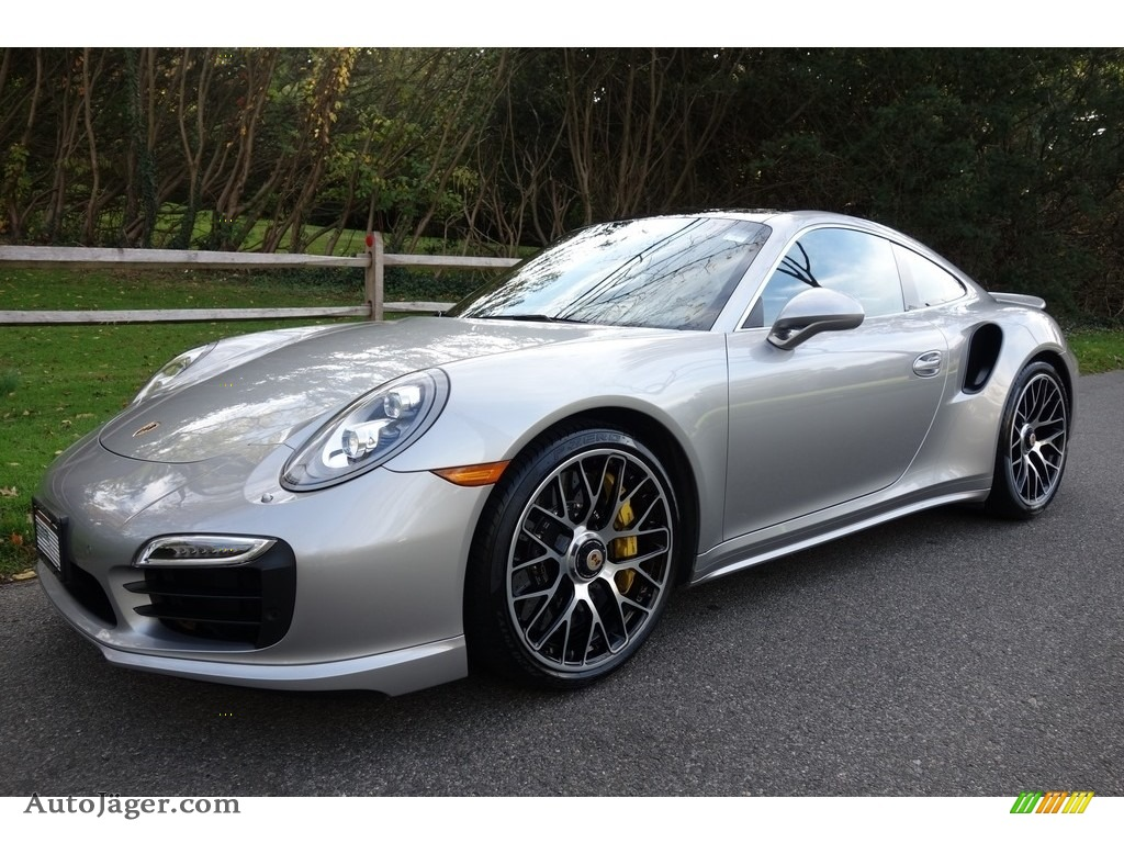 2015 911 Turbo S Coupe - GT Silver Metallic / Espresso/Cognac Natural Leather photo #1