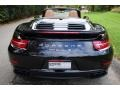 Porsche 911 Turbo S Cabriolet Basalt Black Metallic photo #5