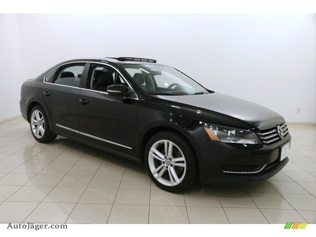 2014 Passat 2.5L SE - Black / Titan Black photo #1