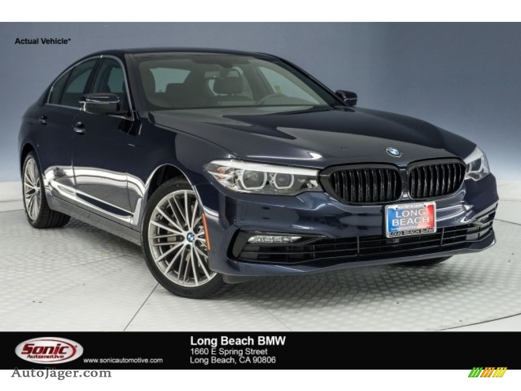 Imperial Blue Metallic / Black BMW 5 Series 540i Sedan